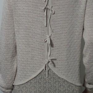 Unique Cupio High Low Tie Back Sweater Size L